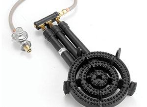 three ring burner black
