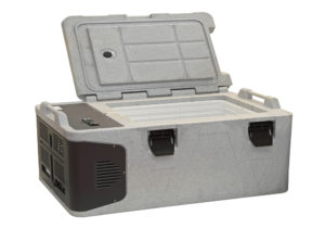 grey portable camping frigge freezer