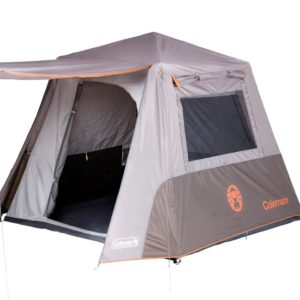 Grey camping tent fit for 4 adults